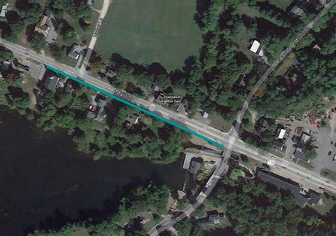 Map of proposed sidewalk