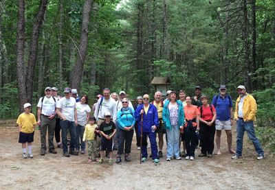 Group shot of rail trail walkers