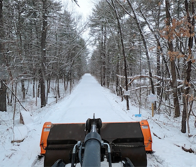 Video of snowplowing the rail trail